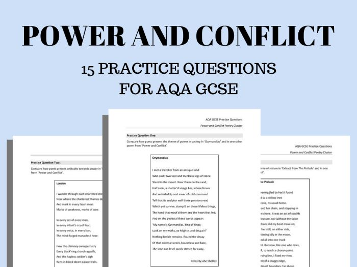 Power and Conflict Practice Questions for AQA GCSE