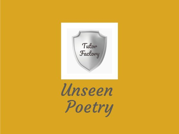 Unseen Poetry Sources