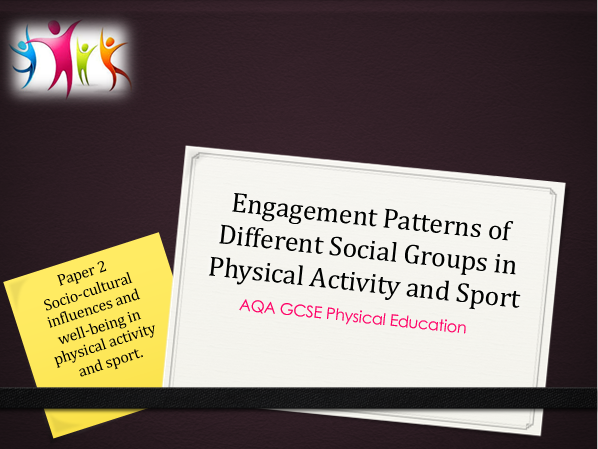 AQA GCSE PE (New Spec) - Engagement Patterns of Different Social Groups in Physical Activity/ Sport