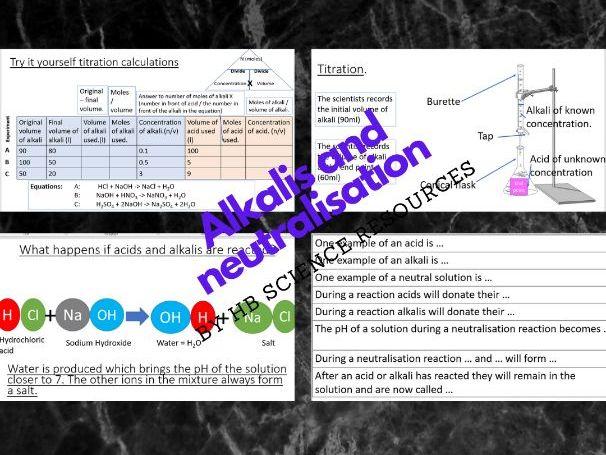 Alkalis and neutralisation.