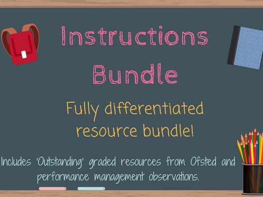 Instructions and Imperative Verbs Bundle
