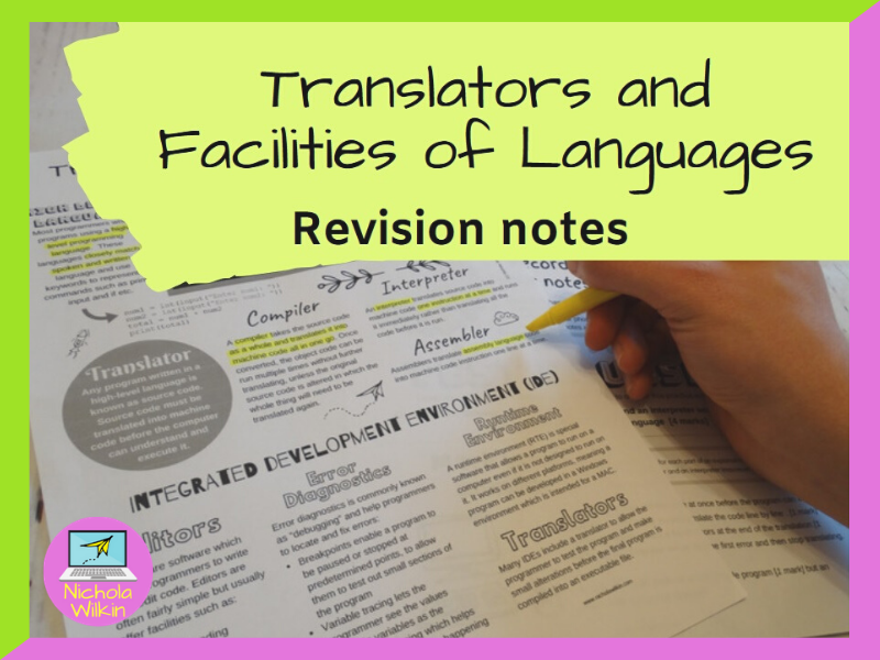 Translators and Facilities of Programming Languages Revision Knowledge Organiser