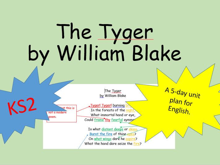 The Tyger Classic Poetry English Plans