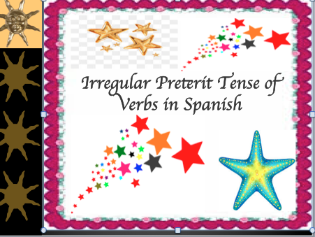 Irregular Spanish Verbs in the Preterit Lesson