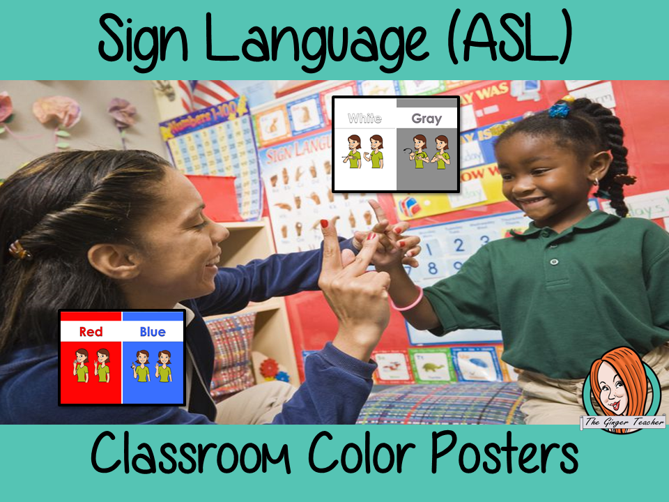 Sign Language ASL Classroom Color Posters