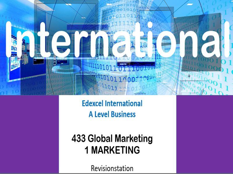Pearson Edexcel International A Level Business (433) 1 Marketing