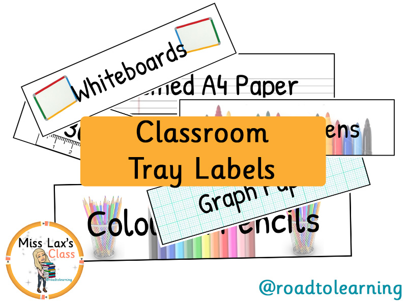 Colourful Classroom Tray Labels