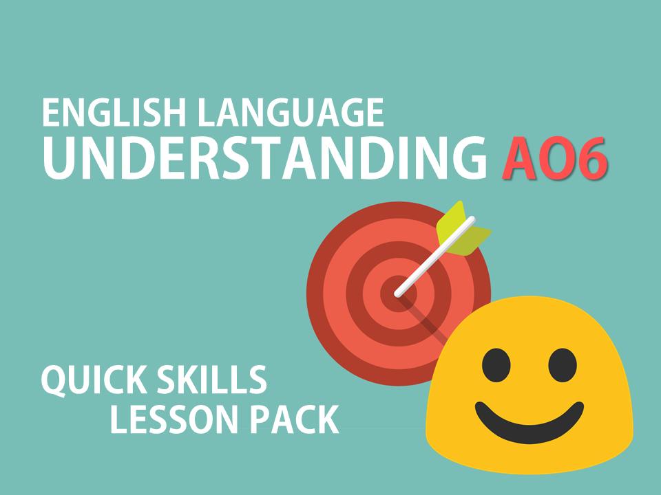 English Language AO6 Skills Lesson Pack - AQA, GCSE Scheme of Work