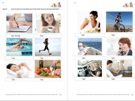 SPECIAL EDUCATION - ABOUT OUR BODIES (1) - body parts workbooklet