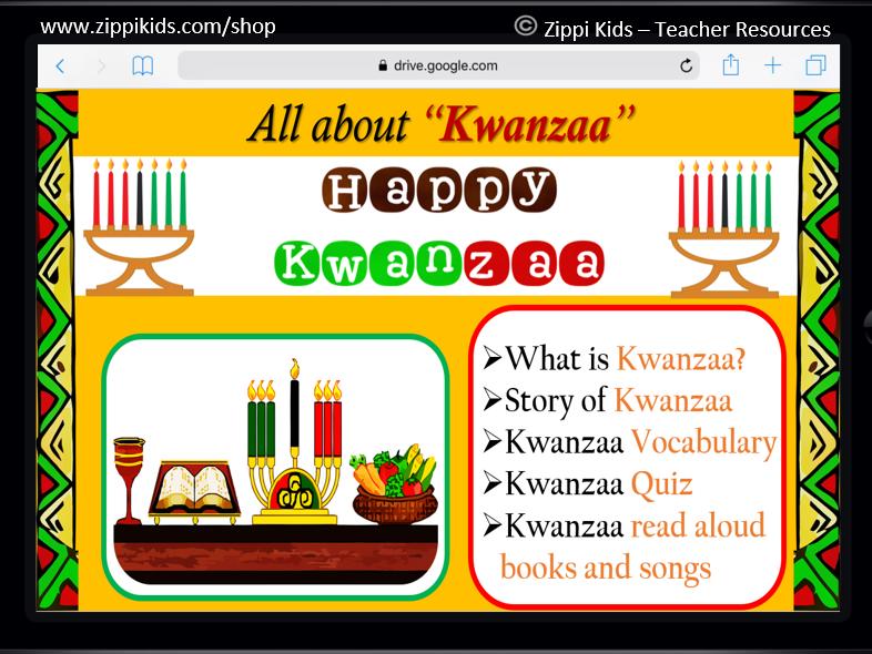Kwanzaa | All about Kwanzaa | Learn about Kwanzaa - 17 Google Slides