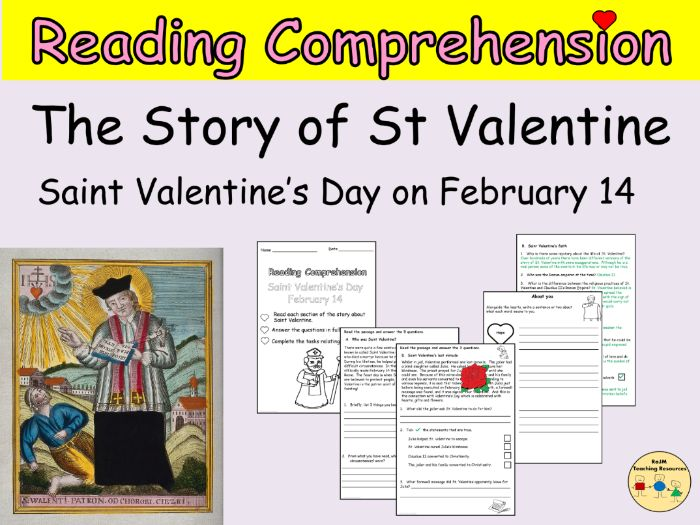 St Valentines Day Reading Comprehension Passages and Questions
