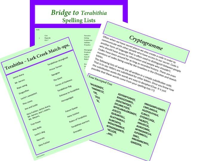 Bridge to Terabithia add ons.