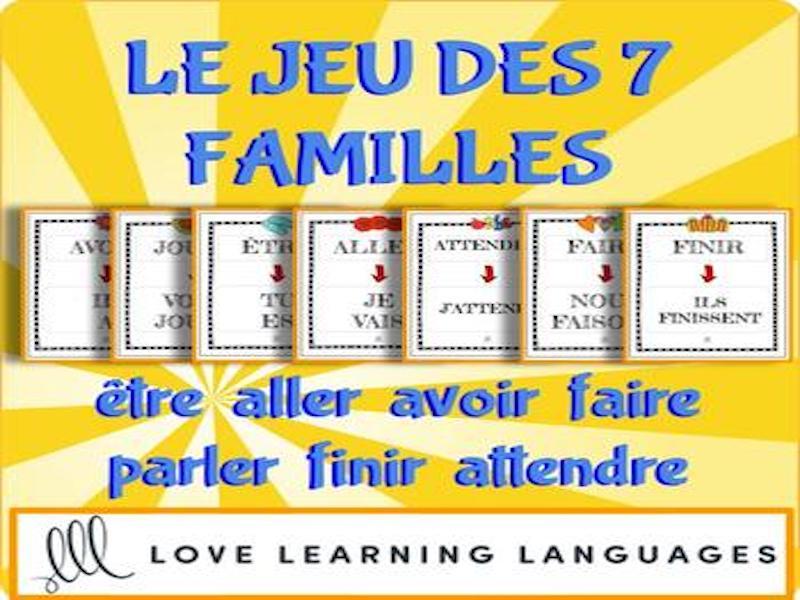 Le jeu des 7 familles- être - aller - avoir - faire - parler - finir - attendre