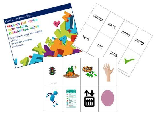 Word Chains – Self Checking Cards – Reading Single Words VCC CVCC CCVC CCVCC - Phonics for SEN