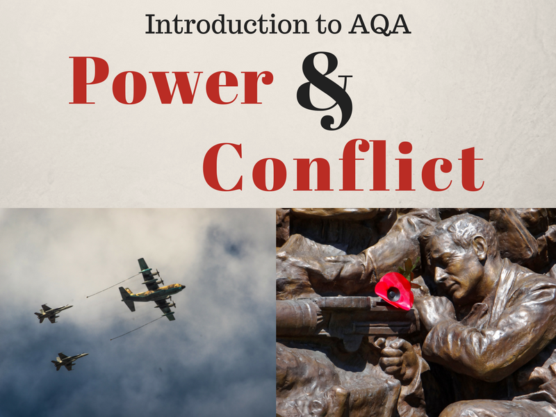 Introduction to Power and Conflict Poetry - War Poems Unit - AQA