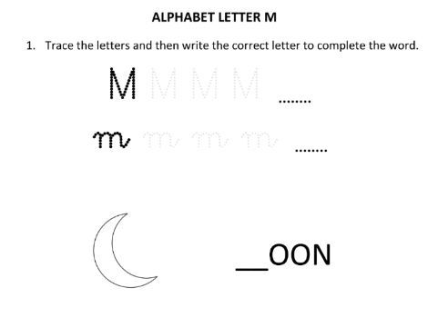 Learning and Writing Letter M for Year 1 Students