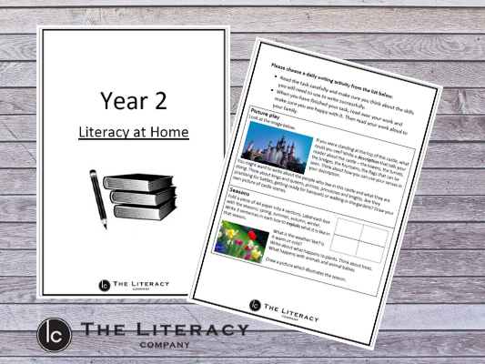Literacy learning from home - Year 2