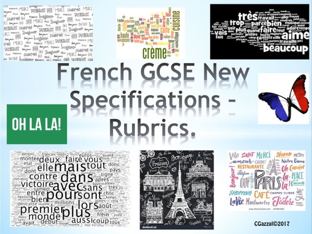 Rubrics for French GCSE New Specifications.