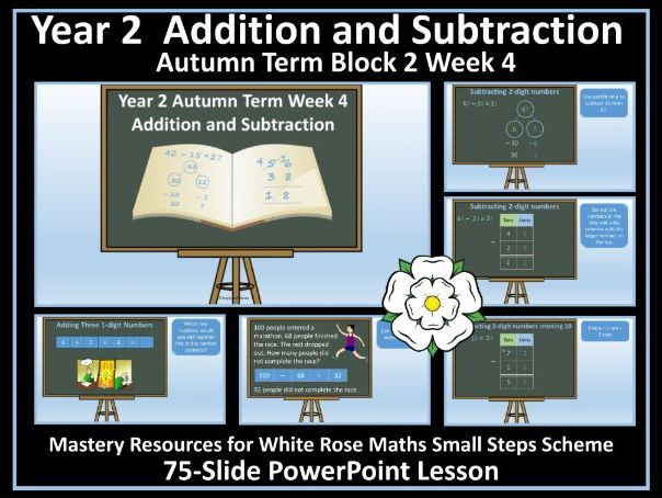 Addition and Subtraction: Year 2 - Autumn Term - Week 4 - PowerPoint Lesson For White Rose Maths