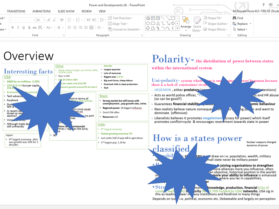 Power & Development Revision powerpoint