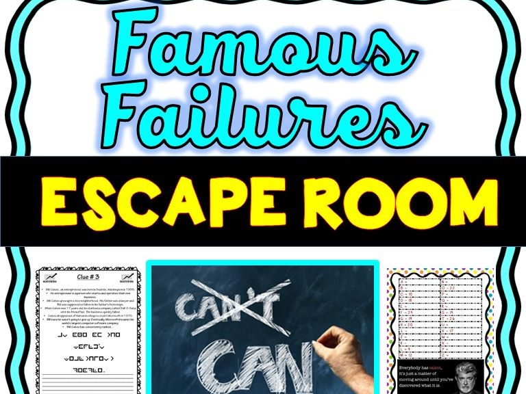 Famous Failures Escape Room
