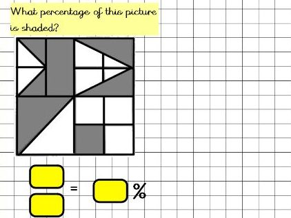 Convert fractions to percentages year 6