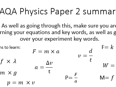 AQA Physics Paper 2 summary