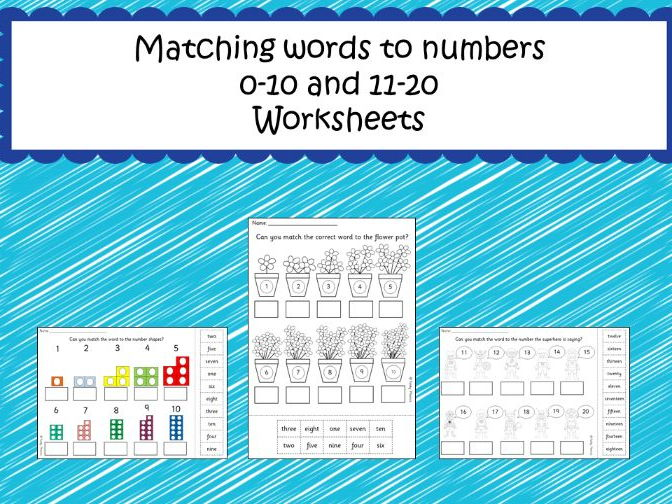 Matching words to numbers up to 20 by FunkyPhonics - Teaching ...
