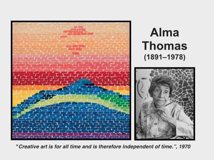 Who is Alma Thomas?