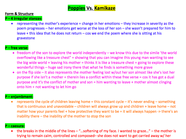 GCSE English Literature Poetry Comparisons - Power and Conflict (AQA) (9-1)
