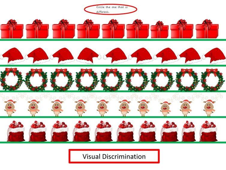 Christmas Visual Discrimination