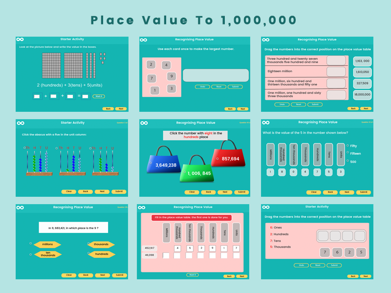 Place Value to 1,000,000 - Year 5 key stage 2