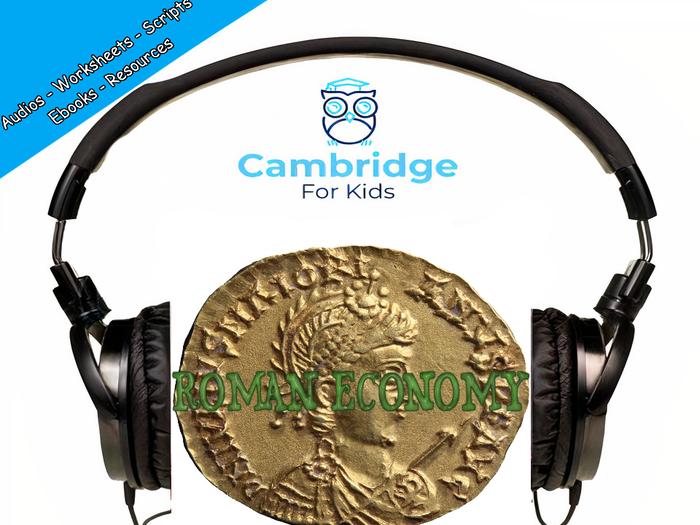 Ancient Roman Economy Audiobook & Comprehension Activities / Worksheets / eBooks
