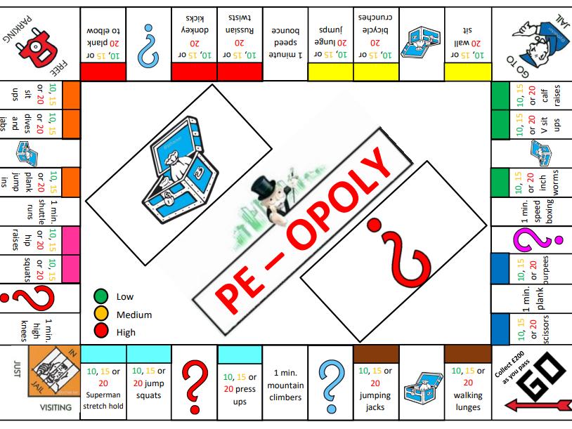PE Fitness Monopoly