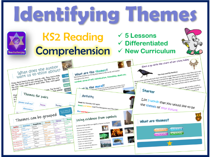 5 KS2 Comprehension Lessons on Identifying Themes when Reading