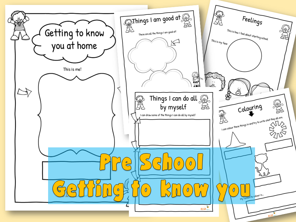 Preschool Getting to know you booklet