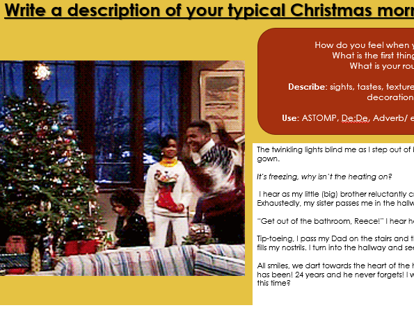 An essay about christmas morning