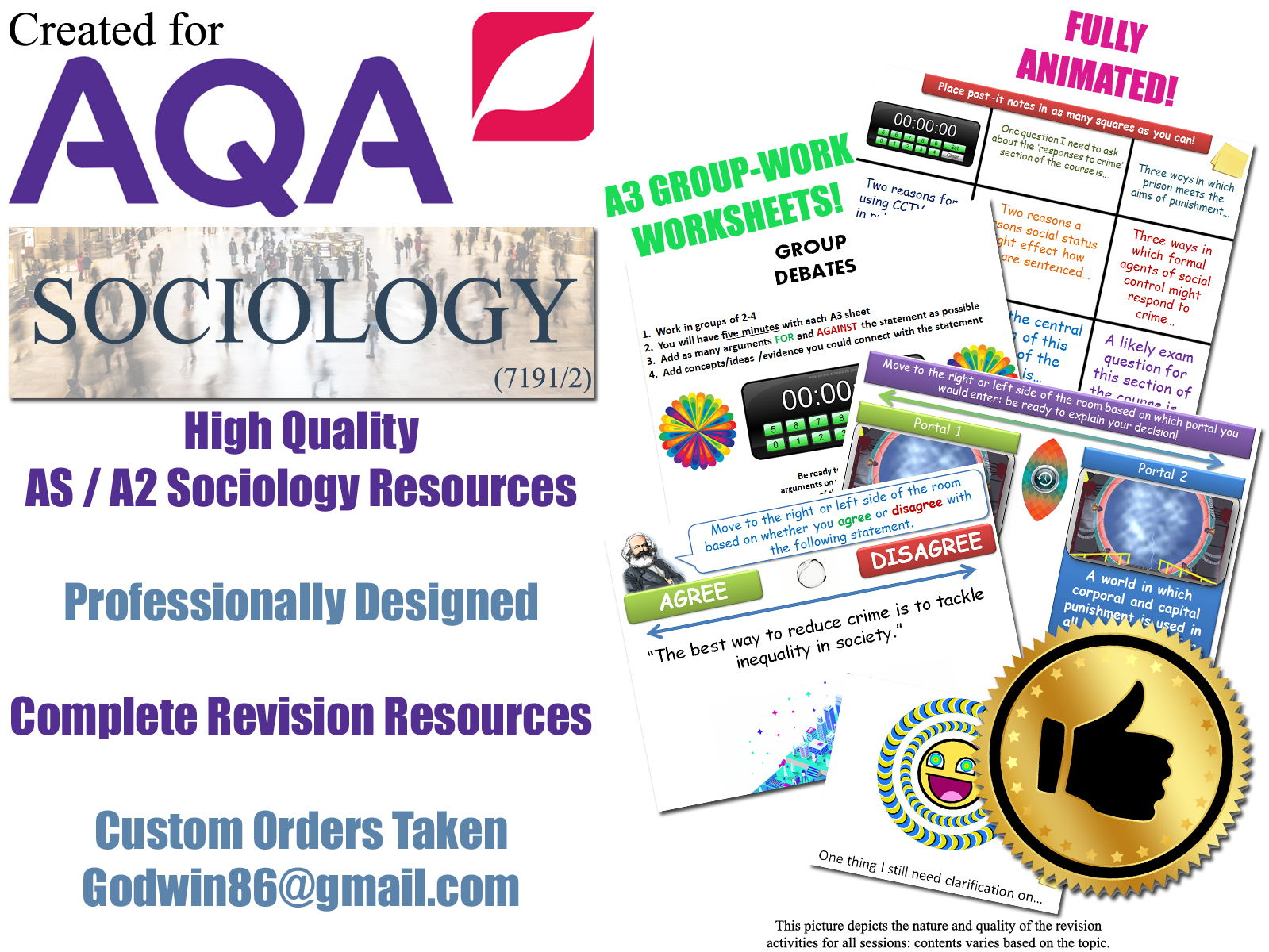Sociology Revision (KS5) - THE MEDIA - 6 Revision Sessions for AS/A2 AQA Sociology