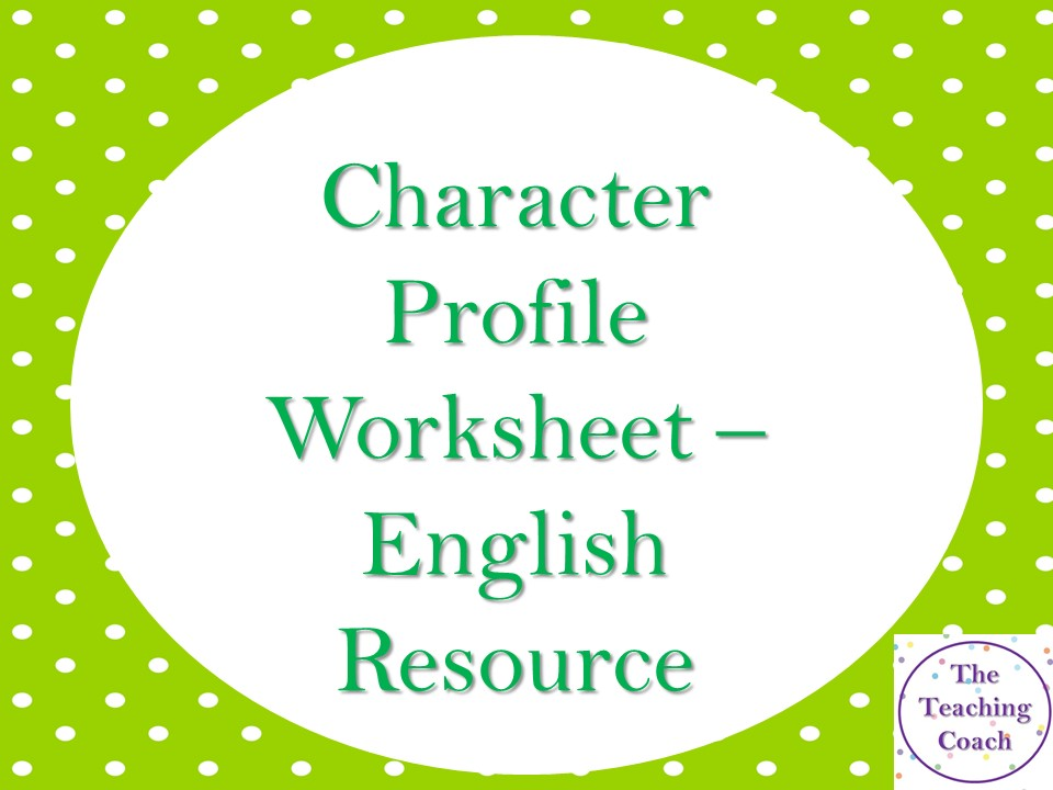 Character Profile Worksheet - Creative Descriptive Writing