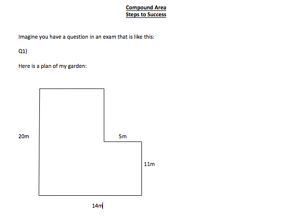 Compound Perimeter and Area  Guidance