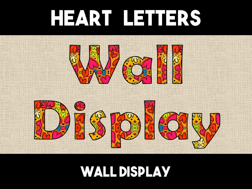 Hearts & Flowers Letters Alphabet Wall Display