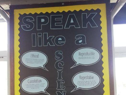 Science Display: Speak like a Scientist