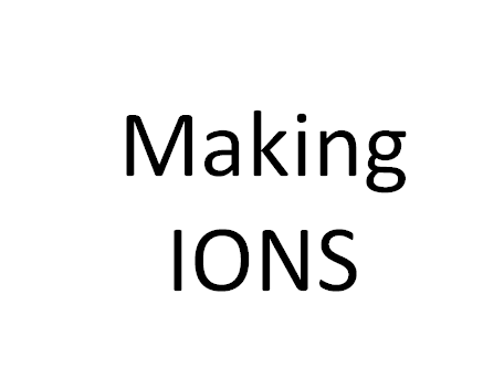 Making Ions