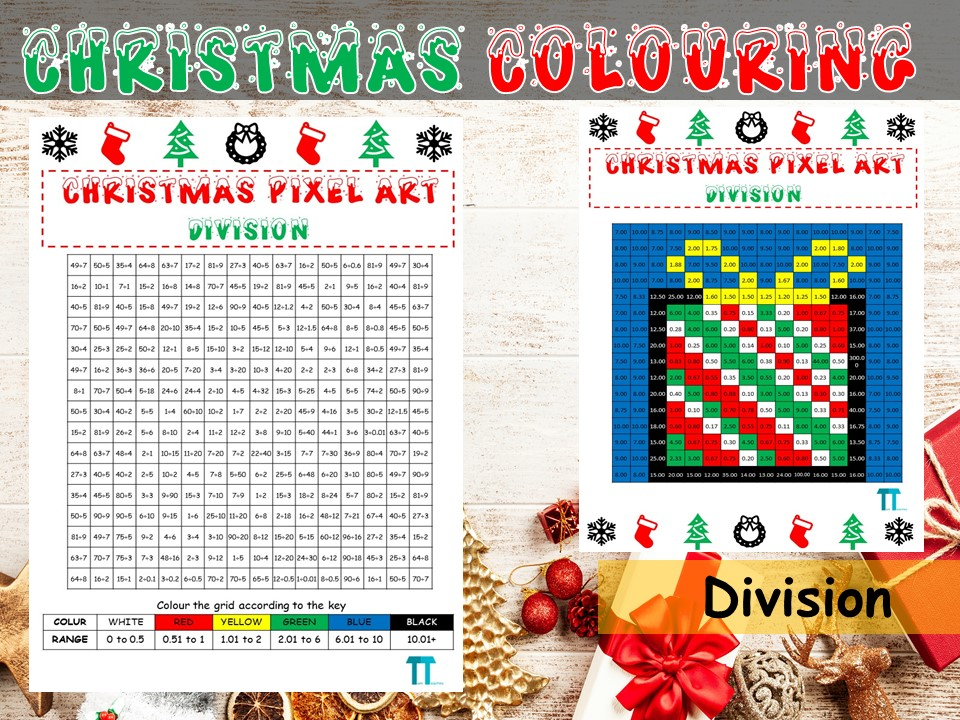 Christmas maths GCSE revision on division