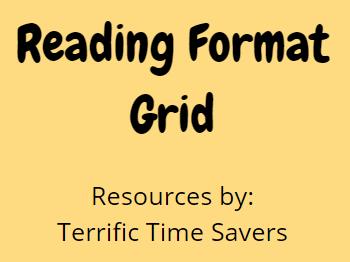 Reading - Lesson progression grid