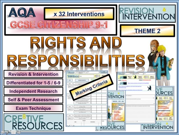 GCSE Citizenship 9-1 - Revision and Intervention - AQA - Theme 2