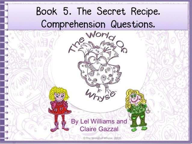 Book 5 – Ellie Gets Her Just Desserts - Comprehension Questions by The World Of Whyse.