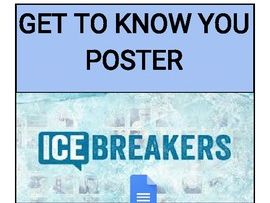 Get To Know You - Ice Breaker (Editable on Google Docs)