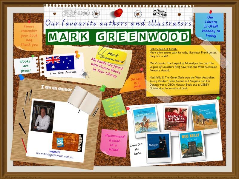Library Poster - Mark Greenwood Australian Author Of Children's Books