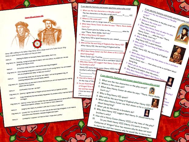 Tudor Play-script Comprehension Henry VII and Henry VIII